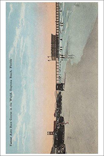 daytona, fl - vista de la playa con los coches y los nadado