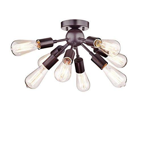 dazhuan vintage antiguo metal orb sputnik lámparas 8 luces