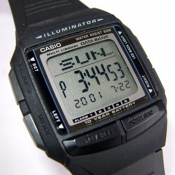 5e9b15b1a73 Db-36 1av Relógio Casio Databank Bateria 10anos Agenda - R  184