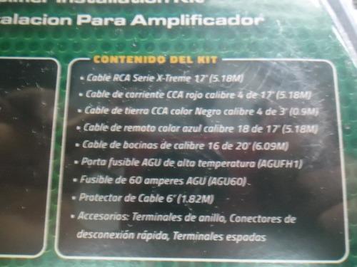 db link kit de cables #4 para instalacion de amplificador