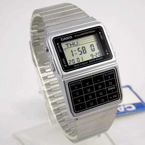 e5560c6875c Dbc-611 1df Relógio Casio Databank Calculadora Retrô - R  389