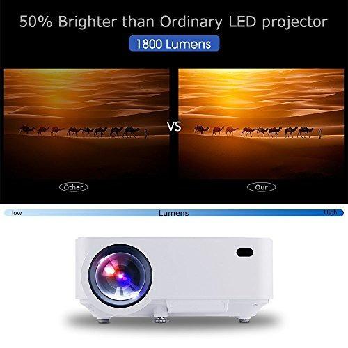 dbpower t20 lcd mini proyector de películas, multimedia home