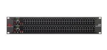 dbx - dual de 31 bandas de ecualizador - plata
