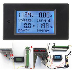 Dc 20a Panel Medidor De Voltaje De Corriente De Energía Moni