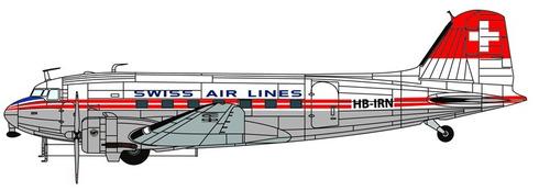 dc-3 swissair  1/72  italeri no 1349