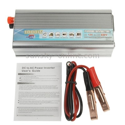 dc 5 to ac car power inverter with usb port silver silver
