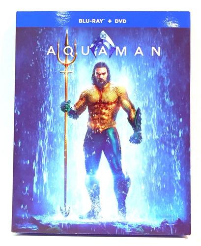dc aquaman bluray + dvd nuevo original cerrado