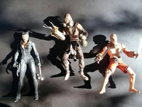 dc collectibles arkham city  lote (batman, joker, harley)