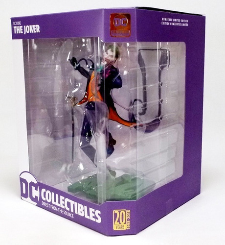 dc collectibles dc core: the joker pvc statue