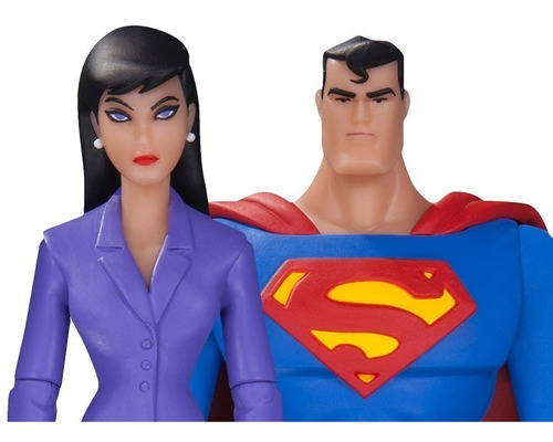 dc collectibles  tas superman and lois action figure 2pack