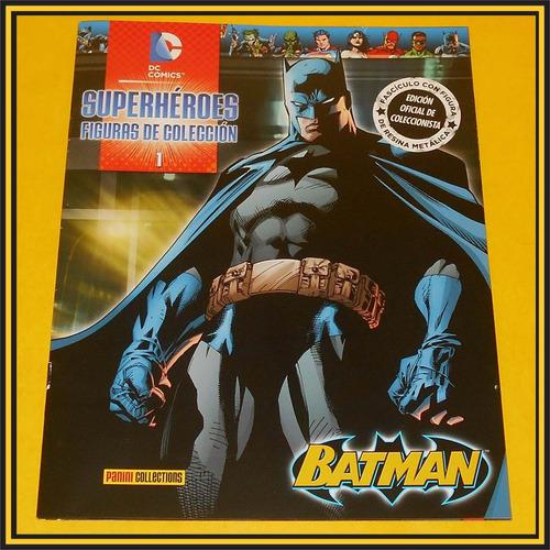 dc comics batman figura resina metalica superheroes panini