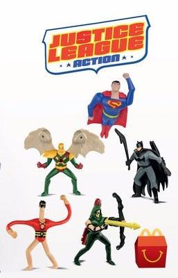 dc comics liga de la justicia action mcdonald´s