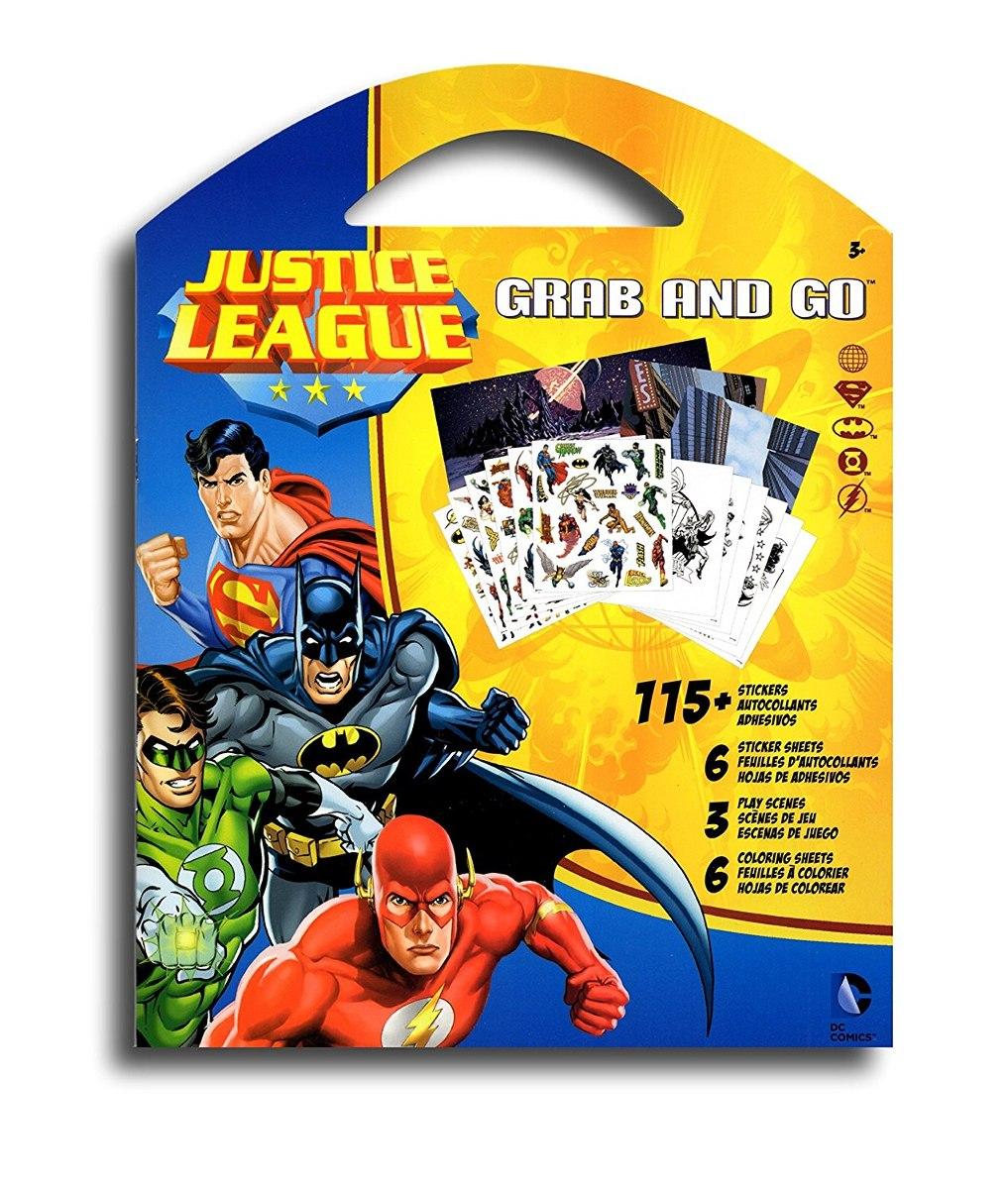 Dc Comics Liga De La Justicia Para Colorear Etiquetas Set De ...