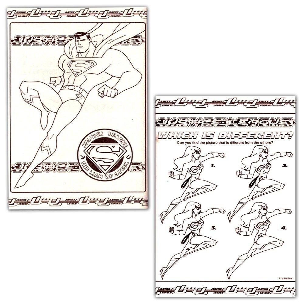 Dc Comics® Liga De La Justicia Para Colorear Y Libro De Acti ...