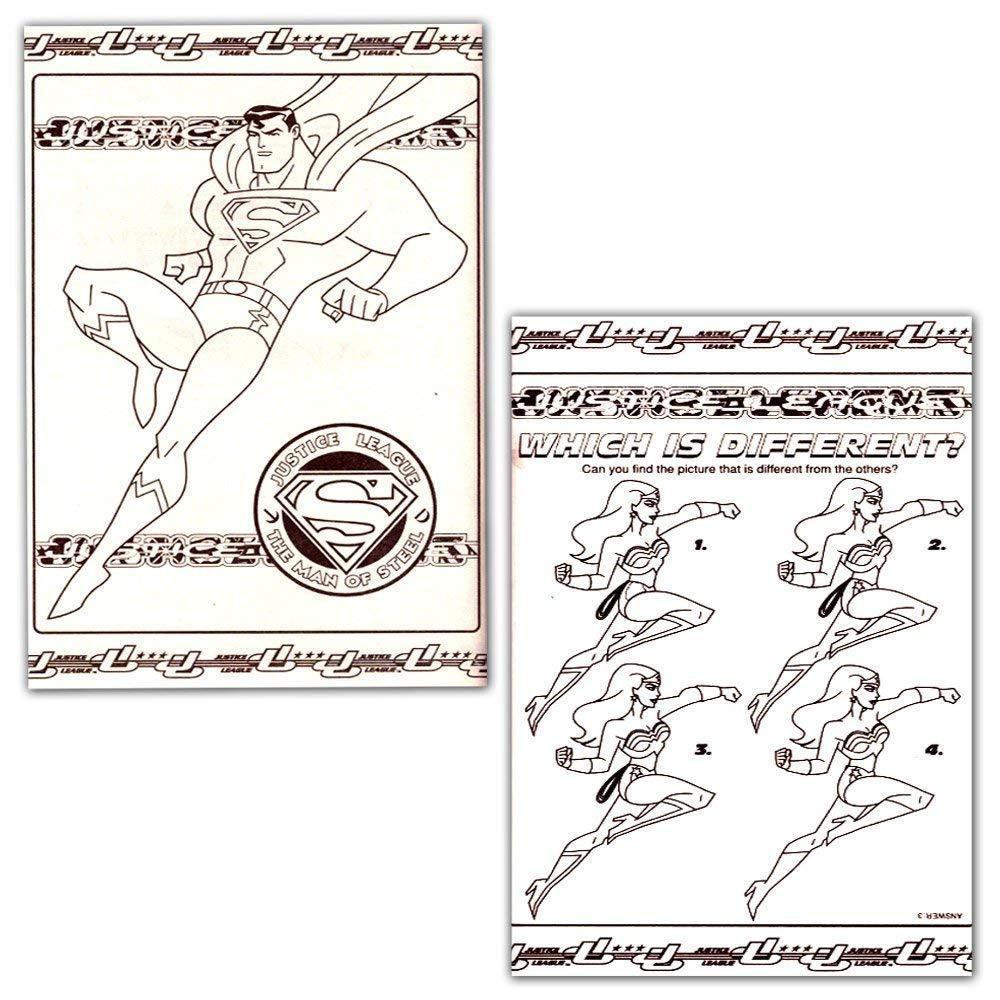 Dc Comics Liga De La Justicia Para Colorear Y Libro De Acti