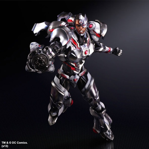 dc comics: no.9 cyborg - variant play arts kai, envío gratis