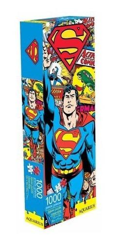 dc comics superman rompecabezas panorámico 1000 pz aquarius