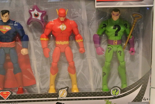 dc comics total heroes battle in a box figure (4-pack)