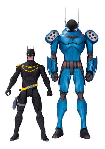 dc designer series - gcpd batman 2-pack - robot negro