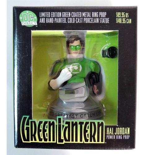dc direct anel do lanterna verde hal jordan em metal e busto