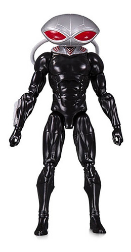 dc essentials black manta dc collectibles - robot negro