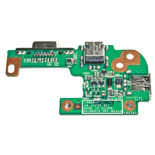 dc power jack vga usb io board para dell inspiron 15r n5110