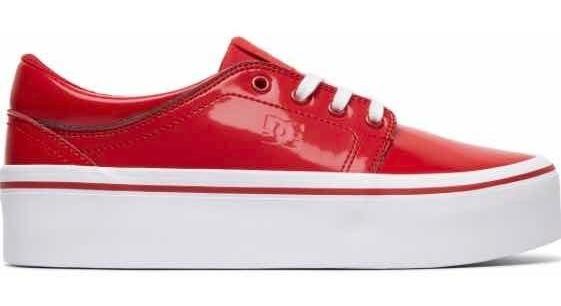 size 40 e0ab5 97b1c Dc Shoes De Plataforma Se Rojos