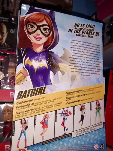dc superhero girls batgirl primera edicion blister duro