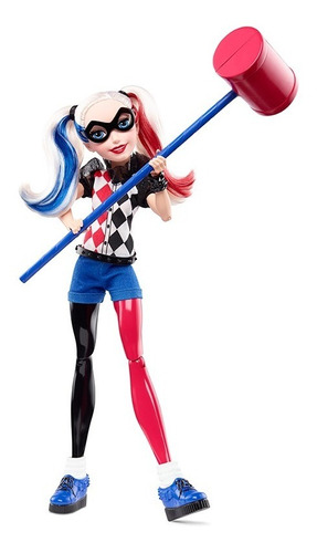 dc superhero girls harley quinn muñeca dlt61
