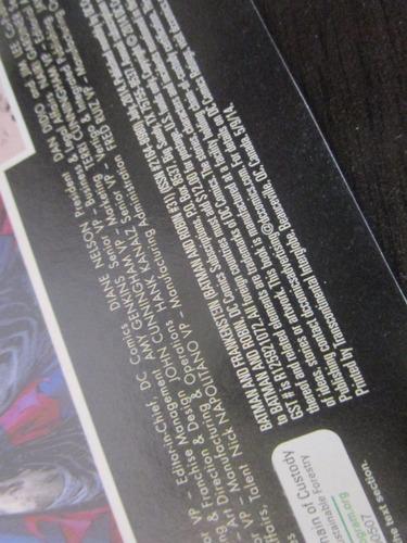 dc una revista comics batman frankenstein robin en ingles
