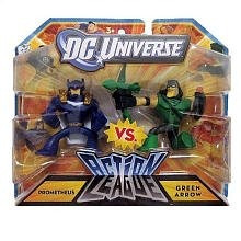 dc universe action league mini figura de prometeo 2pack vs.