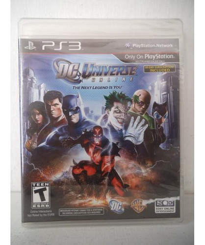 dc universe the next legends is you playstation ps3 fisico
