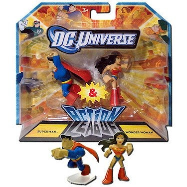dc universo 2.25 pulgadas mini action league 2-pack - super