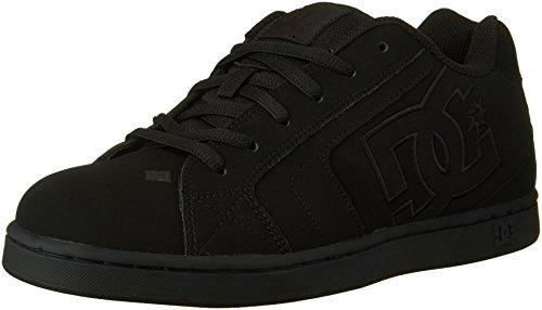 dc zapato con cordones neto para hombre, negro / negro / neg