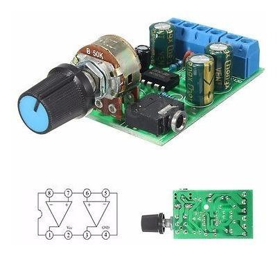 dc1.8-12v tda2822m amplificador 2.0 canal estéreo de 3,5 mm