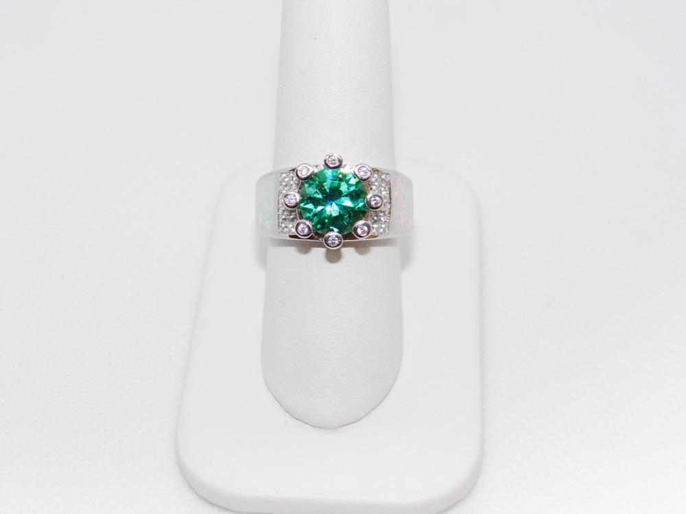 a00e1f8c08bd dcd2a17 anillo para dama de plata con turmalina y ópalo. Cargando zoom.