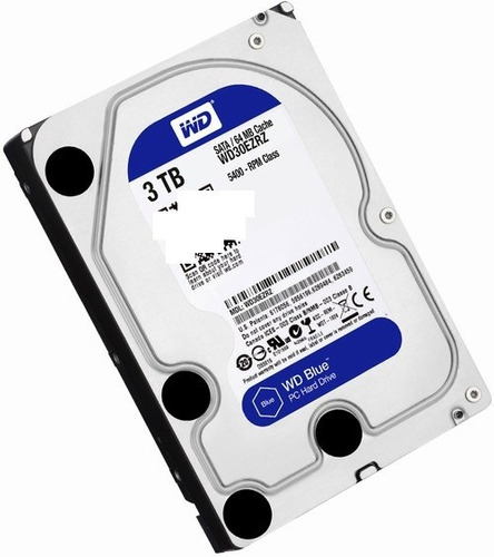 dd interno wd blue 3.5 3tb sata3 64mb 5400rpm p/pc wd30ezrz