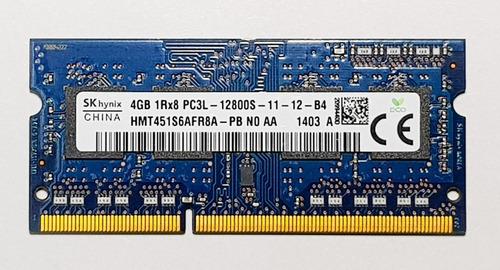 ddr3 4gb memoria ram para laptop pc3l-12800s sk hynix