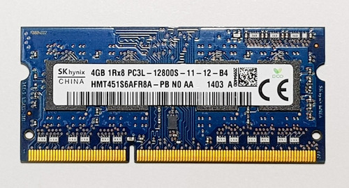 ddr3 8gb (4gb x 2) sodimm pc3l-12800s 1600 mhz remate!