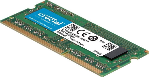 ddr3l 8gb para notebook 1600mhz(12800) dimm crucial / ctman