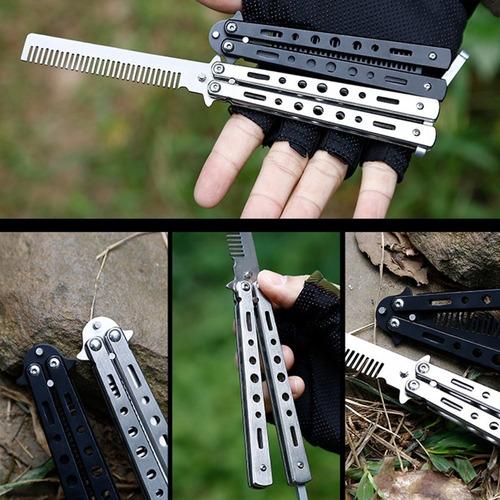 de acero inoxidable plegable mariposa estilo de cuchillo prá