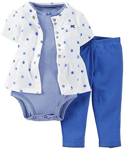 de carter baby girls 3 piezas chaqueta de punto y pantalones