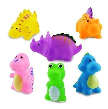 de dinosaurios de goma jg-0803 bath time pack de 12