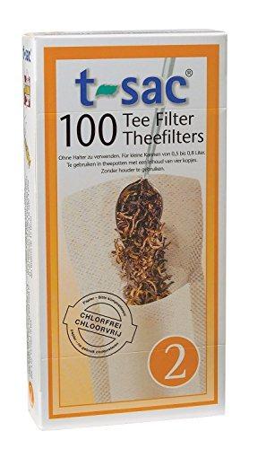 de filtro de té, infusor de té desechable, tamaño 2, conjunt