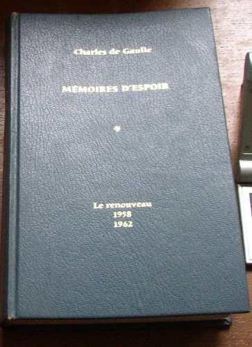 de gaulle memoires despoir le renouveau 1970 1eraed frances