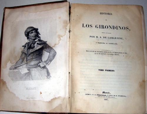 de lamartine historia de los girondinos t i 1847 no envio