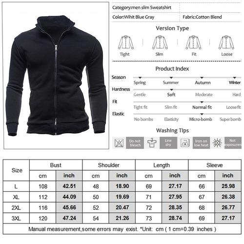 de los hombres casual sport chaqueta de algodón prendas de