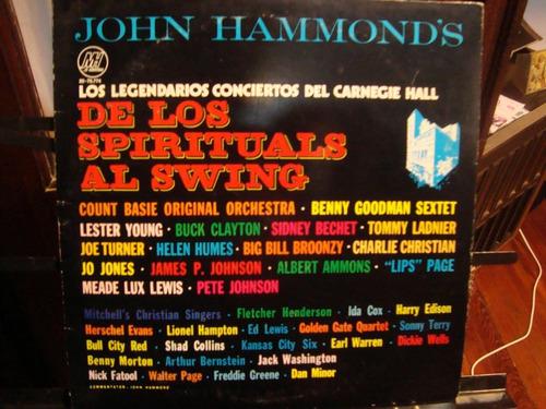 de los spirituals al swing - jazz, blues en vivo 2 vinilos