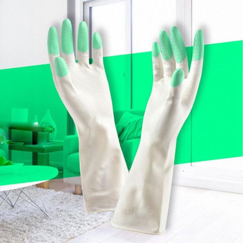 de manga larga de látex lavar platos lavavajillas guantes de