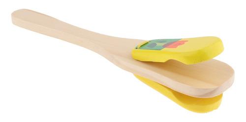 de mano de castañuela de madera clapeta niños ritmo golpe